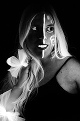 2 / 52 (Erin_Takes_Pictures) Tags: portrait blackandwhite project blacklight weeks 52 fiftytwo