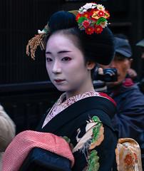 Maiko, Gion Kyoto (Lennart Naurholm - Thank you for 50,000+ views) Tags: portrait japan canon hair kyoto celebration maiko geisha 5d kimono newyears gion tradition kansai  mikako geika shigyo shigyoshiki mikakosan