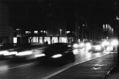 5 (ElMariuolo) Tags: street white black cars film lights movement strada e movimento bianco nero luce macchine rullino panview
