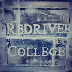 Red River College On Ice (BenRogersWPG) Tags: red sculpture cold college ice river logo downtown winnipeg chainsaw freezing samsung carving manitoba note galaxy font exchangedistrict kerning redriver android icesculpture winterpeg seethru oldmarketsquare icecarving on rrc iceblock icesculpting coldasice downtownwinnipeg redrivercollege heho wordmark clearice instagram samsunggalaxynote polarvortex redrivercollegeonice heho45