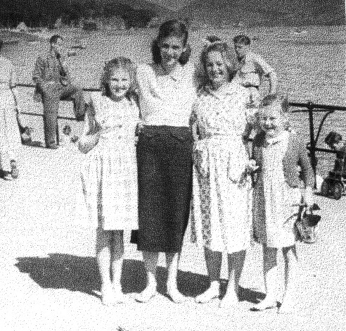Betty Moria, and Mary Cummings Saltcoats Beach 1953