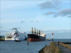 Angel Alia (Marcello_14) Tags: france port boat harbour cargo normandie bateau calvados ouistreham carferry remorqueurs angelalia transporteurdevrac
