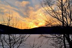 Monksville Sunset_0312 (smack53) Tags: trees winter sunset lake snow mountains ice water clouds nikon icy paintedsky monksville monksvillereservoir d3100 smack53