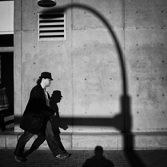 从 (. Jianwei .) Tags: street light shadow urban vancouver geometry candid sony jianwei kemily