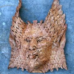 naga 1 (origami joel) Tags: face paper origami mask joel cooper tessellation origamijoel