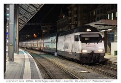 """Olten - Re 460 003-7 """"National Suisse"""" (CC72080) Tags: train sbb locomotive cff re460 olten dosto interrégio"""