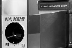 Big Shot, no B.S. ([jonrev]) Tags: camera portrait film andy vintage polaroid photography big focus shot flash plastic odd cube land warhol instant fixed awkward shuffle minimalistic bizarre magicube
