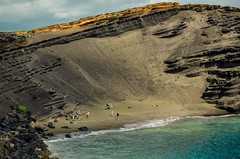 Hidden (joshmonk) Tags: ocean trip sea vacation people usa green beach landscape outdoors 50mm hawaii bay coast spring nikon unitedstates northamerica nikkor southpoint 2014 greensandsbeach dxii d7000 f18g f18g50mm