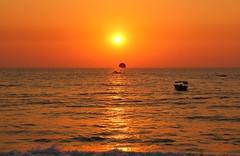 Parasailing on the Arabian Sea