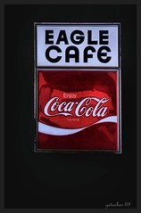 Eagle Cafe  Gallup NM (the Gallopping Geezer '4.5' million + views....) Tags: food newmexico sign canon restaurant cafe route66 eagle drink coke signage cocacola dine nm gallup 2009 geezer corel motherroad