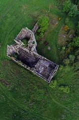 KAP Shot of Torwood Castle (Jim Knowles (West Lothian Archaeological Trust)) Tags: kite west castle archaeology photography stirling sony aerial kap lothian torwood nex5r