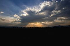 (Khuroshvili Ilya) Tags: light sunset sky sun mountains nature clouds canon georgia landscape lights spring horizon sakartvelo 2014 kaukasus kakheti nvbr nvbr11 alazaniwalley