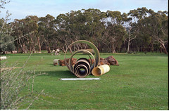 Irrigation Pipes (nickant44) Tags: film analog nikon kodak south australia scan f2 coolscan ektar photomic ls50