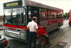North Western 853 (L153UKB) 22051994a (Rossendalian2013) Tags: bus manchester pointer dennis dart plaxton britishbus northwesternroadcar l153ukb