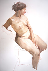 Life Drawing/painting (Wil Freeborn) Tags: life painting chalk drawing pastel watercolour