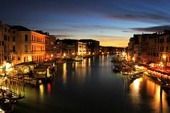 Golden Sunset over Venice - Venice 2014 (James Hancock Photography) Tags: venice sunset night boats lights canal day pigeons gulls gondola longexposures