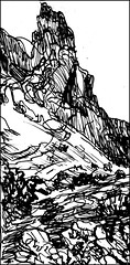 First Rock Along Siphon Draw (Kerry Niemann) Tags: inkdrawing apachejunction siphondrawtrail