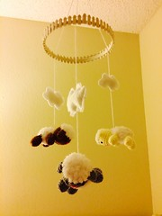 Amigurumi Lamb Mobile (amigurumi_freak) Tags: cute mobile handmade crafts crochet craft kawaii lamb lambs amigurumi