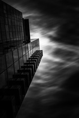 Axis (StefanB) Tags: california city longexposure bw building glass monochrome architecture clouds pattern sanjose notre dame avenue geotag axis repitition 2014 em5 1235mm flvonmirikr