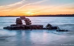 Friend by the river (markt_photo) Tags: sunset ottawa river rocks water longexposure