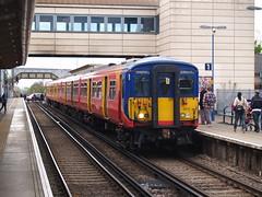 A South West Trains' Class 455, Feltham, Hounslow, London (Steve Hobson) Tags: feltham hounslow london south west trains class 455 emu
