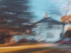 9/16 (nikaylasnyder) Tags: architecture home house motion blur long exposure swirl landscape trees homes houses mcdonalds blue skies fall autumn filter