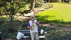 2016-10-19 - Central Park - Saxophonist (zigwaffle) Tags: 2016 manhattan nyc newyorkcity centralpark timessquare
