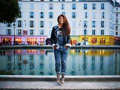 #thephotobooth session at the Canal Saint-Martin (janhettenkofer) Tags: paris portrait strobe flash zeiss sony a7 profoto umbrella woman fashion levitation canal saintmartin distagont235 people zf