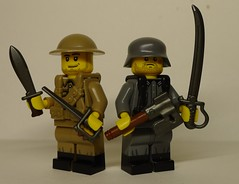 Melee the Best Man Win! (enigmabadger) Tags: brickarms lego custom minifig minifigure fig weapon weapons accessory accessories combat war world battlefield one proto prototype protoz german british american history historical great