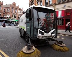 Street Sweeper. Nottingham City Council. Sept 2016 (SimonHX100v) Tags: street streetphotography streetsweeper vehicle transport environment roadsweeping roadsweepingvehicle nottinghamcitycouncil outside outdoors work workman sonyhx100v simonhx100v