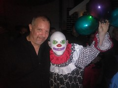 Me and BoBo the Clown (PhotoJester40) Tags: indoors inside thehaunt clown makeup me myself selfie halloweencostume cheerful happy havingagoodtime male males smiling balloons