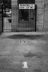 (277/366) Currently Out Rockin' (CarusoPhoto) Tags: smc pentaxda 35mm f24 al smcpentaxda35mmf24al pentax ks2 john caruso carusophoto photo day project 365 366 guitar rocking parking space spot chicago city roscoe village neighborhood bw black white street