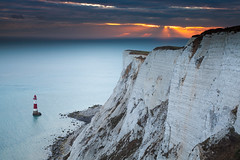Autumn Sunset from Beachy Head (JamboEastbourne) Tags: beachyhead east sussex england south downs national park sea lighthouse sunset sky cliff cliffs chalk