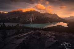 Through the Never (enricofossati) Tags: enricofossati fantasy dark dramatic banff canada alberta peyto lake sunrise