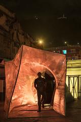 Sospechosamente Parecido (Santiago Forero Molano) Tags: art arte esculpture escultura bogota colombia artista artistas artists artist hierro iron vinipel plastic monserrate portales portals light luz ciclo cicle hole hueco black negro noche night