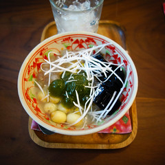 DSC07094-3 (Tho Loves Food) Tags: vietnamesefood vietnamesedessert dessert che matcha jelly matchajelly chehoankiem annamparlour oldquarter hanoioldquarter japanesestyle food tholovesfood rx100