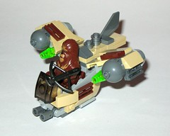 75129 1 lego star wars microfighters series 3 wookie gunship set 2016 d (tjparkside) Tags: 75129 1 lego star wars 2016 sw microfighters series 3 iii three wookie gunship kashyyyk ep episode 2 ii two attack clones revenge sith clone tcw aotc rots rebels missile missiles firing front guns back flap wing wings engine engines crossbow bowcaster weapon blaster disney set