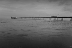 High tide at Southport Pier (tabulator_1) Tags: southport southportpier blackwhite blackandwhite