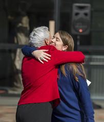 Halgand and Debra Tice embrace.