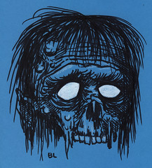 zombie (Ben Lyon) Tags: zombie weirdo monster sharpies white charcoal colored pencil