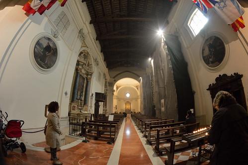 Interno della basilica di San Benedetto a Norcia