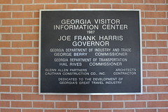 Georgia Visitor Information Center, Lowndes County plaque (MJRGoblin) Tags: lowndescounty 2016 lakepark georgia
