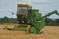 John Deere 955 Combine Harvester cutting Winter Barley
