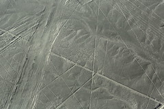 Mysterious Nasca Lines Peru South America (In Memoriam Ngaire Hart) Tags: peru southamerica nasca nazca nascalines nazcalines mysterious historical ancient biomorphs geoglyphsgeometric forms triangle spiral circle trapezoid plant animal hummingbird monkey spider aerial aerialview geology plains rocks gravel sand dust arid dry incavalley panamericanhighway nazcavalley birds beasts strange symbols eriagn ngairelawson ngairehart travel photography texture