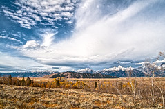 Expansive sky over Jackson Hole and the Tetons (spotwolf5) Tags: tetonrange jacksonhole clouds greateryellowstoneecosystem