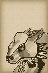 2015.07.30 Mexican Coyote (Julia L. Kay) Tags: zenbrush zenbrushapp zen brush zenbrushapponly bw blackandwhite black white juliakay julialkay julia kay artist artista artiste knstler art kunst peinture dessin arte woman female sanfrancisco san francisco sketch dibujo daily everyday 365 mobileart mobile idraw isketch iart digital mda iamda mobiledigitalart ipad touchscreen fingerpaint fingerpainter touch tablet iphone idevice ithing