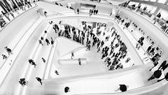 Three Floors (Sean Batten) Tags: designmuseum blackandwhite bw london england unitedkingdom gb museum city urban nikon d800 1424 people