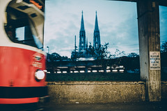 Vienna is moving (mripp) Tags: art kunst tram strasenbahn moving move mobility mobile wien vienna österreich austria cool retro vintage color schottentor europe europa sony alpha 7rii voigtländer norton 35mm traffic underground church heritage kulturerbe selbstmord suizide