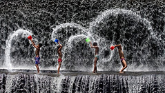 Joyful Life (Pandu Adnyana Photography Tour) Tags: baliphotographytour baliphotographyguide balilandscapephotography bali tour guide travel landscape indonesia kid happy water waterfall jump