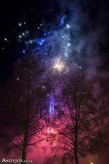 Nadolig LLawen yn Betws y Coed (Andyjos) Tags: nadolig llawen betws y coed lensflair fair fireworkc tan gwyllt merry christmas tree lights night landcsape andyjos nadoligllawenbetwsycoed betwsycoed